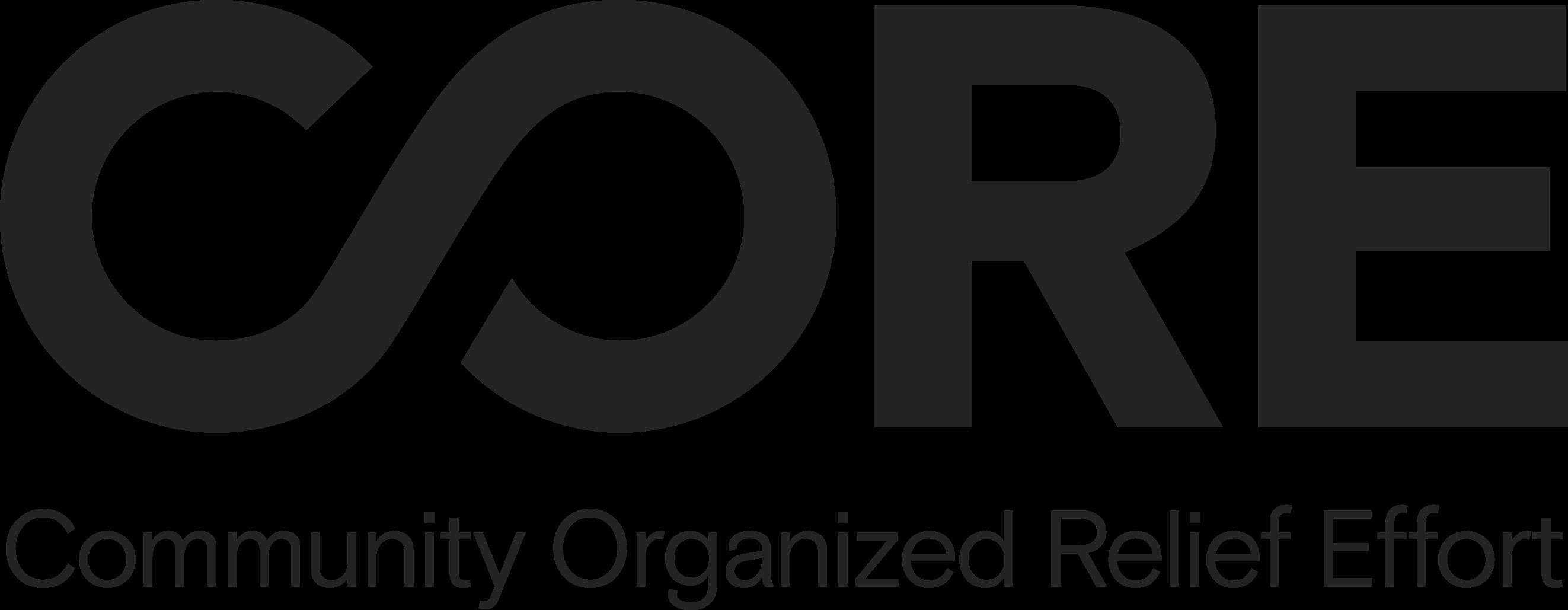 CORE Community Organized Relief Effort logo