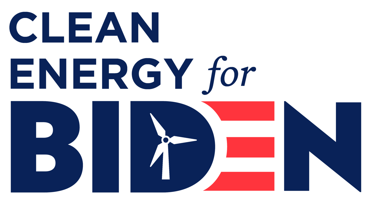 Clean Energy For Biden logo